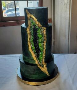 Dark Geode Cake