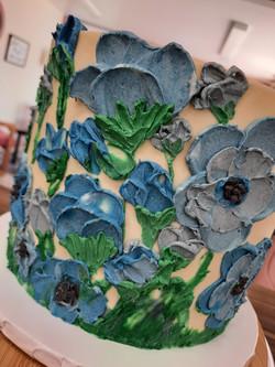 Oil Painted Flower Cake