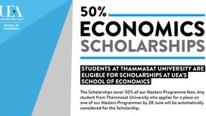 50% Economics Scholarship of UEA