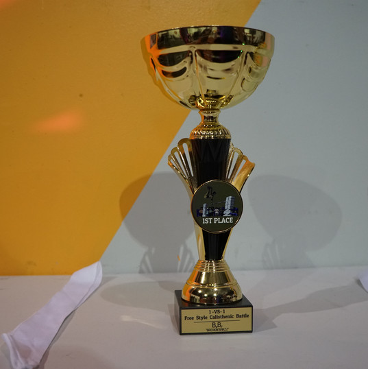1st Place Trophy for Freestyle Calisthenics