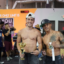 1st & 2nd Place Winners of the Freestyle Calisthenics