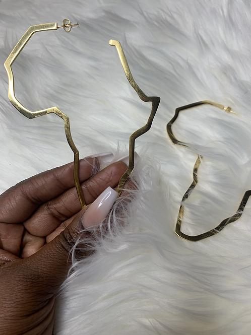 Africa Map earrings 11cm