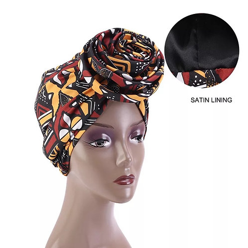 Pre wrap Satin Lining Head wrap