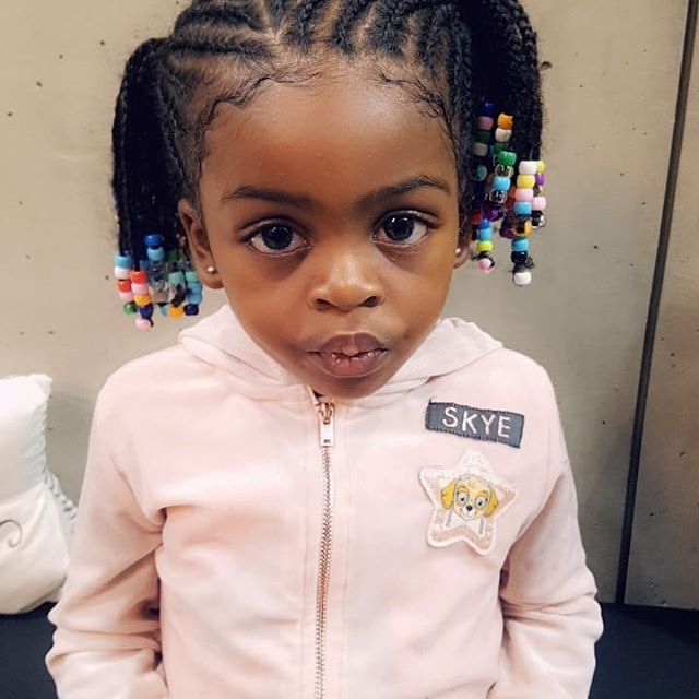 Kids cornrows & beads 😍 ⠀_#kidsfashion