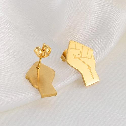 BLM earrings (Gold )