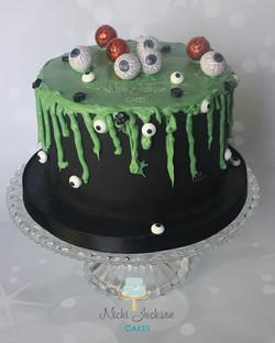 """""""Toxic Goo & Eyeball"""" Halloween cake"""