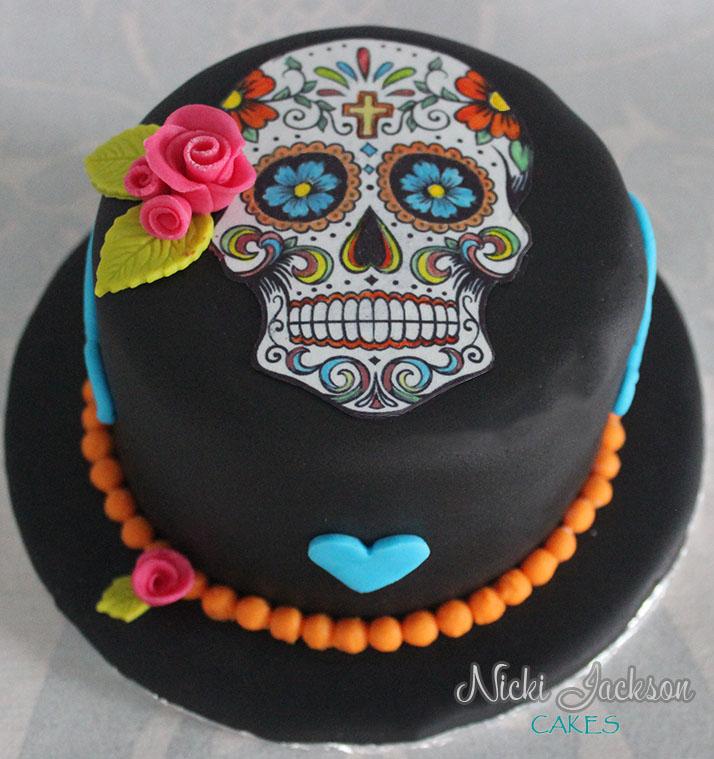 Sugar Skulls Day of the Dead Mini Ca