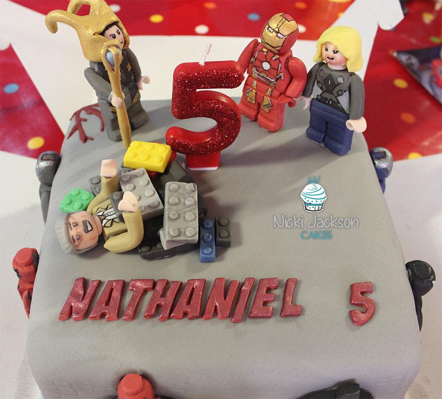 Lego Marvel 5th Birthday Cake