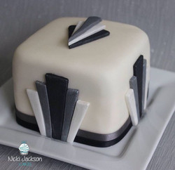 Art Deco Mini Cake