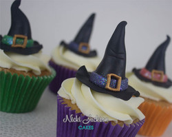 Hallowe'en Witches Hat Cupcakes