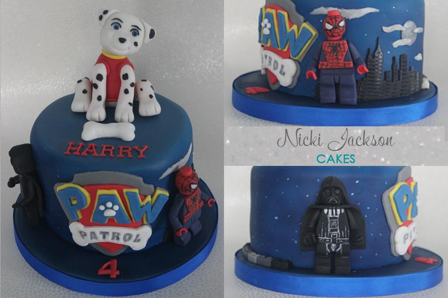 Paw Patrol & others birthday cake