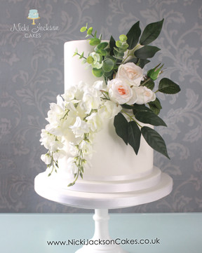 Wedding Cake Silk flowers