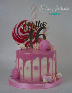 16th Birthday Drip Cake