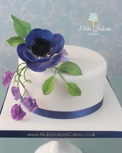 70th Blue floral