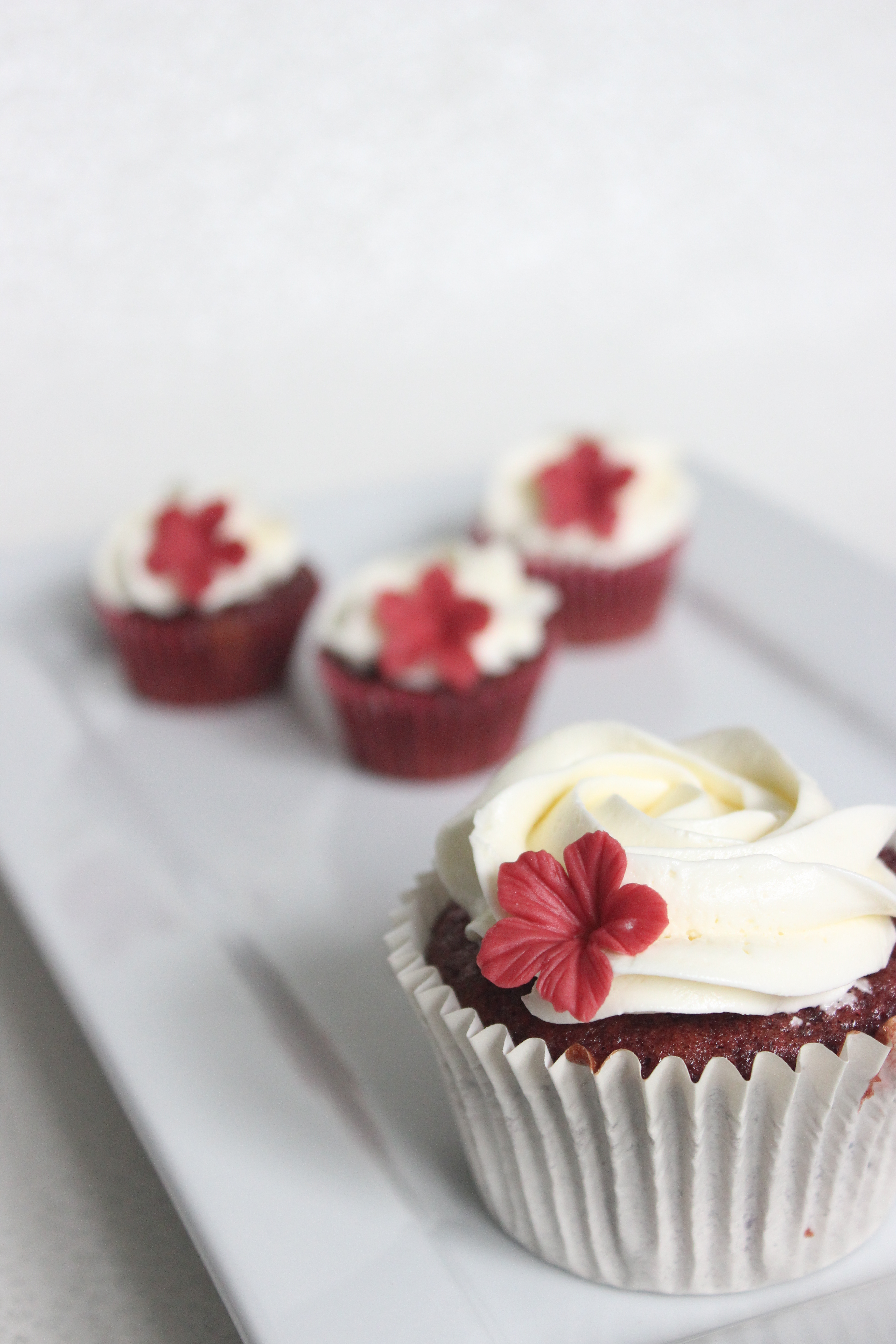 Poppy Red Velvet Cupcakes
