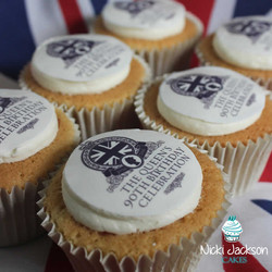 Queen's Birthday Street Party Cupcakes