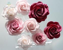 Wedding Roses Burgundy theme