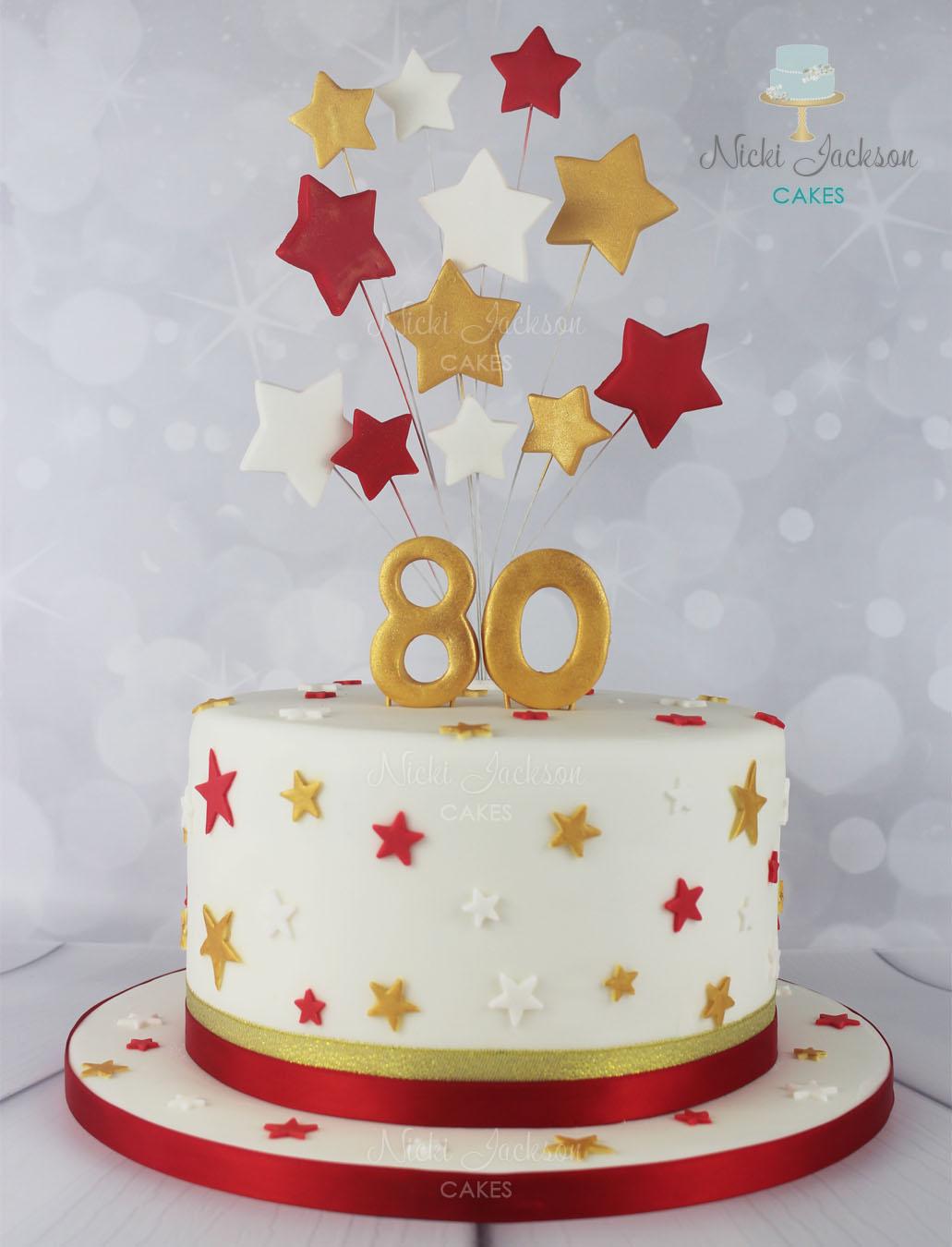 80th Birthday Starburst Cake