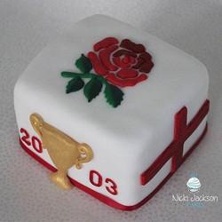 England Rugby Mini Cake
