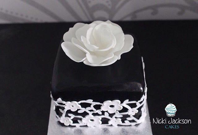 Black Icing Lace Cake