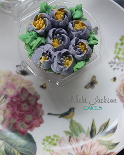 Mother's Day Violet Cupcake