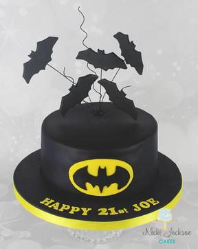 Batman 21st cake