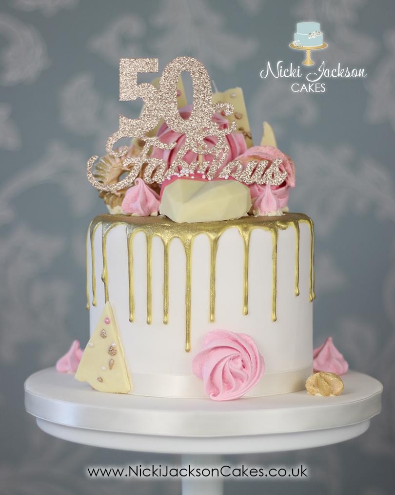 Fab 50 Drip Cake