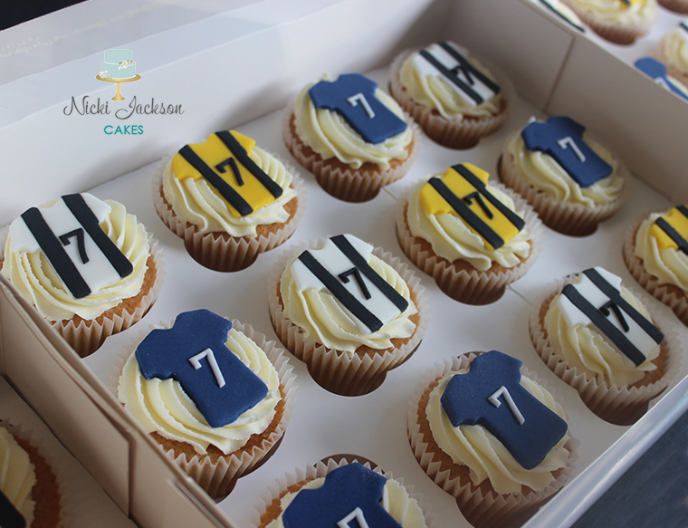 Football Shirt Birthday Cupcakes