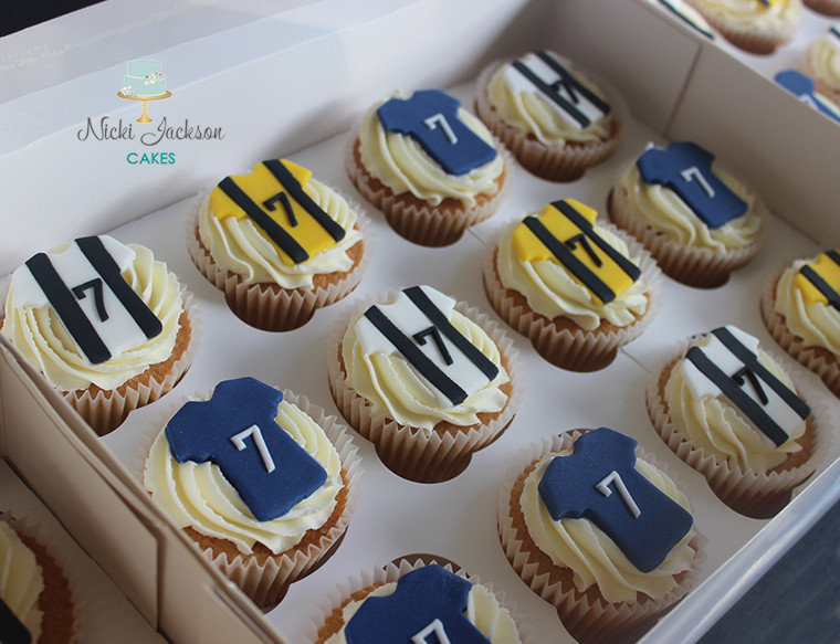 Football Shirt Birthday Cupcakes