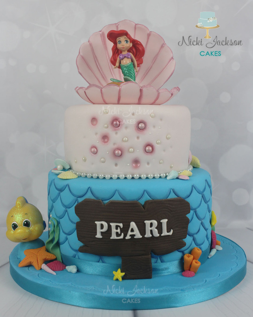 Pearl's Mermaid Cake.