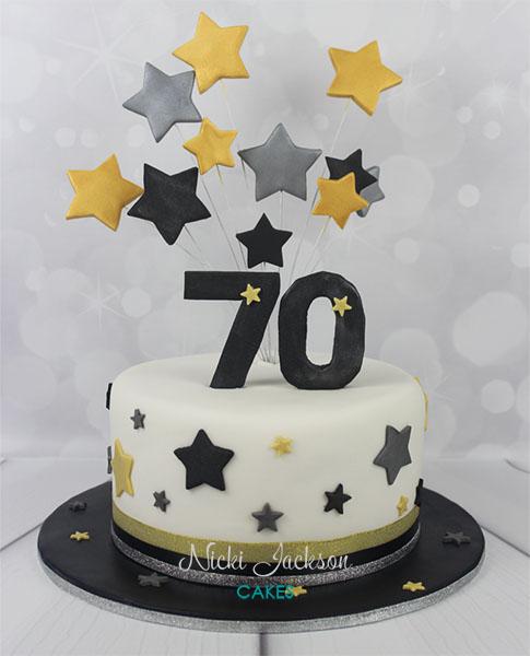 70th Starburst Cake