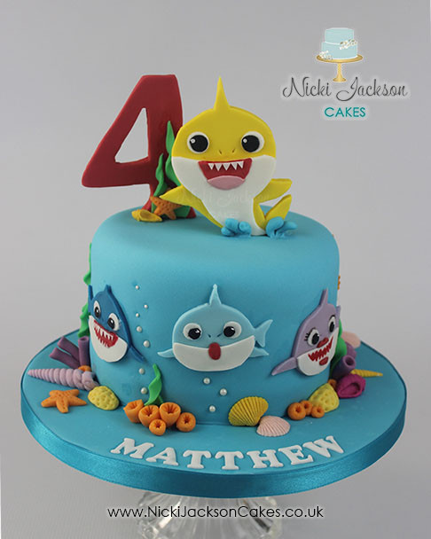 Matthew's 4th Birthday Baby Shark Cake