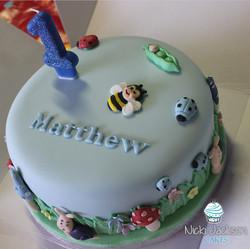 Mini Beasts 1st Birthday Cake