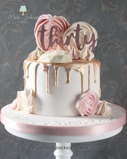 30th Drip Cake
