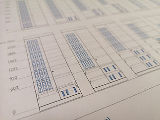Technical drawings of Freewall's storagewall units, showing the height an spacing of the units internal accessories.