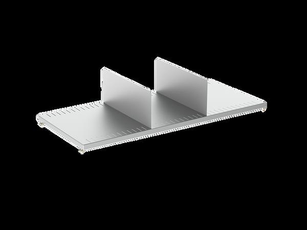 3D render of Freewall's slotted steel shelf storagewall internal accessory