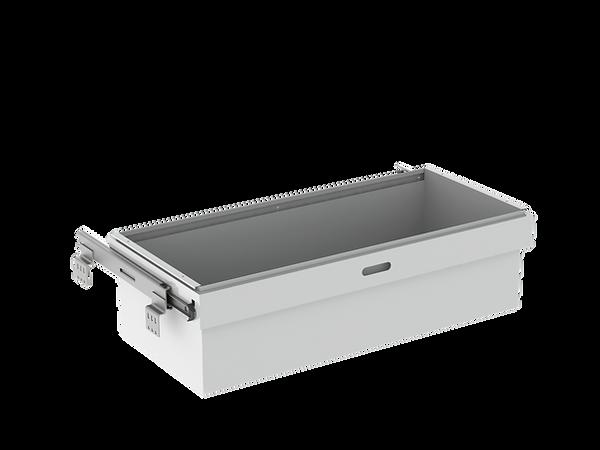 3D render of Freewall's roll out deep bin storagewall internal accessory