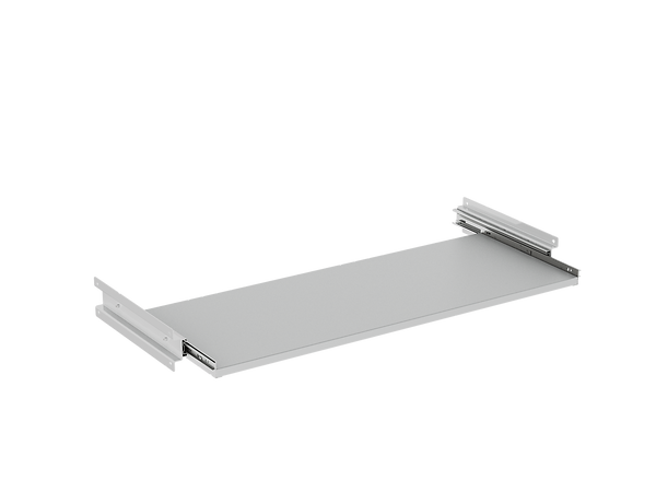 3D render of Freewall's roll out reference shelf storagewall internal accessory