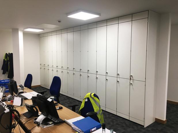 Freewall Split Level Storage Wall Area 1