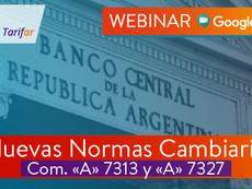 """Beneficios Socios CADIEM """"Nuevas Normas Cambiarias Com. <A> 7313 y 7327"""""""