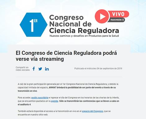 CONGRESO NACIONAL DE CIENCIA REGULADORA