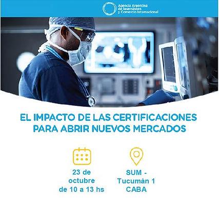 Capacitación sobre certificaciones de productos médicos y nuevos mercados