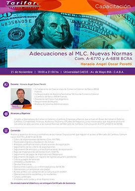 CAPACITACIÓN 21-11 | ADECUACIONES AL MLC COM. A-6770 y A- 6818 (BCRA)