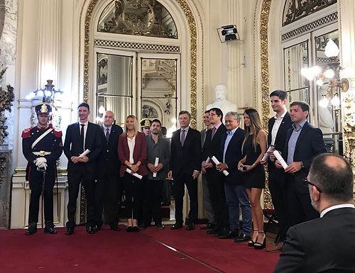 Asistimos al acto de entrega del Premio Exportar 2018 encabezado por el Presidente Ing. Mauricio Mac