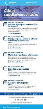 Ciclo de Capacitaciones Virtuales | Agencia Argentina de Inversión y Comercio Internacional
