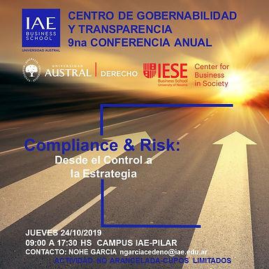 Invitación IAE | Conferencia Anual Compliance & Risk: Desde el Control a la Estrategia