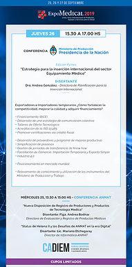 Conferencia PyME | Estrategia para la inserción internacional del sector Equipamiento Médico