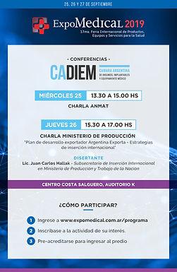 Ya podes inscribirte en las conferencias CADIEM en Expomedical!
