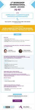 1er Workshop Internacional CADIEM-Advamed