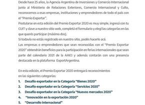 Premio Exportar 2020